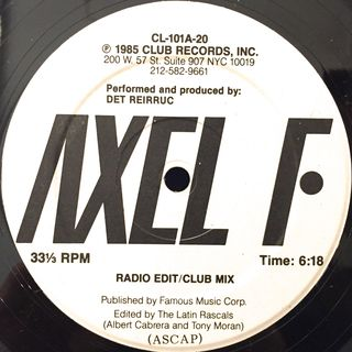DET REIRRUC:AXEL F(LABEL SIDE-A)