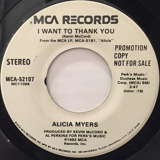 ALICIA MYERS:I WANT TO THANK YOU(LABEL SIDE-A)
