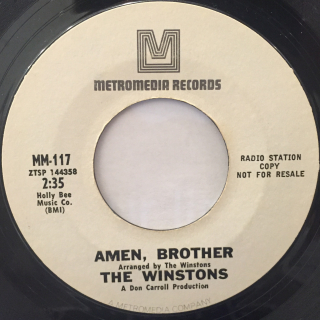 THE WINSTONS:COLOR HIM FATHER(PROMO)(LABEL SIDE-B)