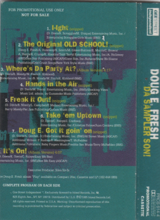 DOUG E. FRESH:DA SAMPLER SON!-2