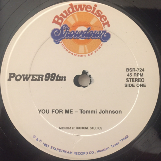TOMMI JOHNSON:YOU FOR ME(LABEL SIDE-A)